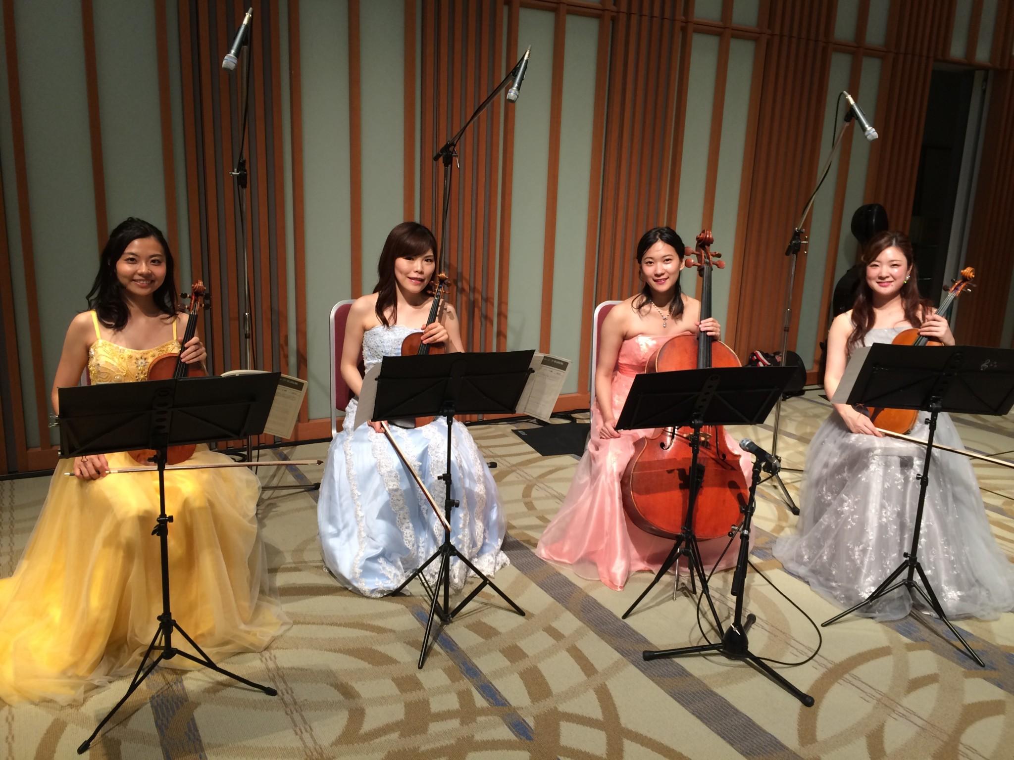 弦楽カルテットでオールクラシック曲を演奏しました