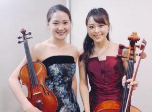 ヴァイオリンとチェロの二重奏でのご依頼でした