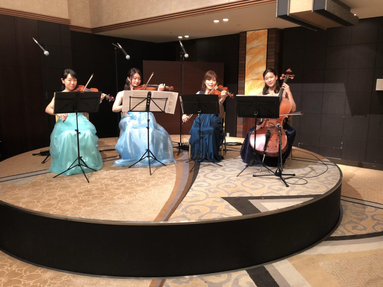 弦楽四重奏で、記念セレモニー演奏でした