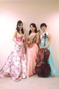 フルート、ヴァイオリン、チェロの三重奏でした