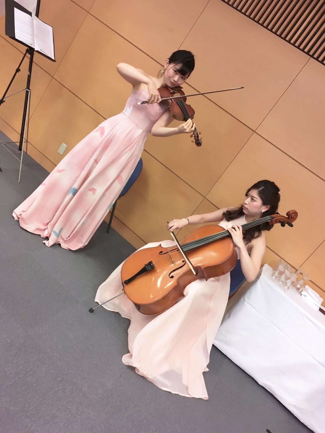 互助会の皆様よりご依頼いただきましてヴァイオリンとチェロで演奏させていただきました