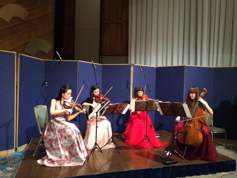 弦楽四重奏は高級感ある会場で人気があります