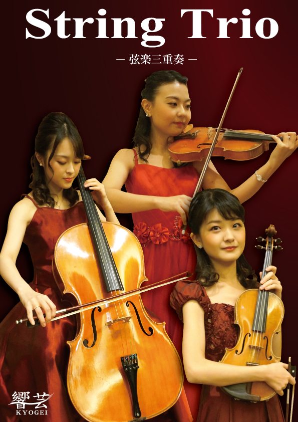 ヴァイオリンとヴィオラとチェロの弦楽三重奏です