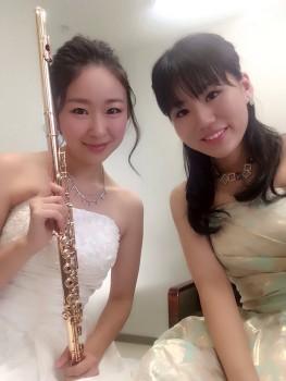 超絶技巧のフルート奏者とピアノ奏者