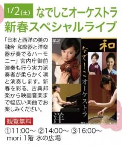 なでしこオーケストラ新春スペシャルライブのお知らせです