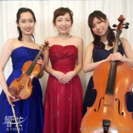 ヴァイオリン、チェロ、ピアノの三重奏でした