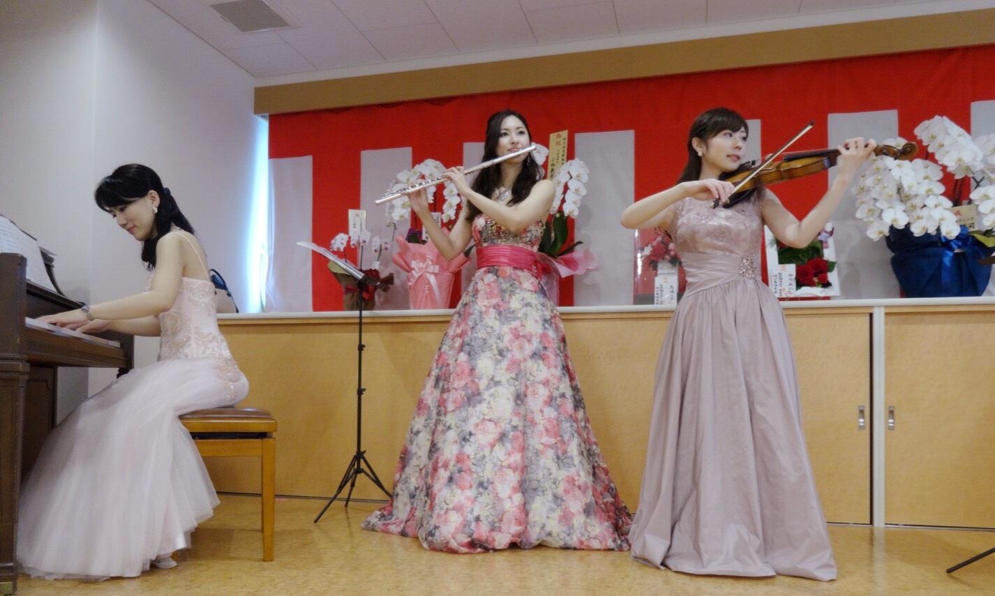 祝賀会にてクラシックトリオ生演奏でした