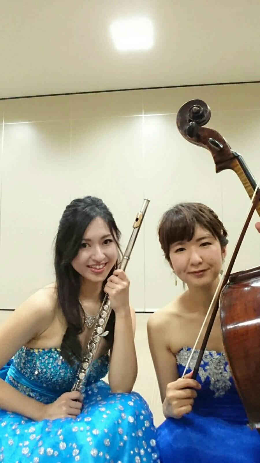 フルートとチェロのデュオ演奏でした