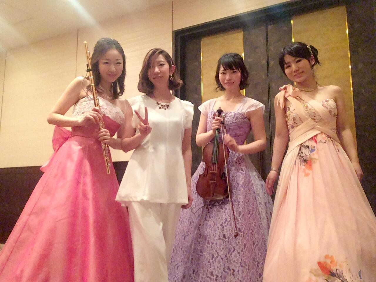 ヴァイオリン、フルート、ピアノ、パーカッションの4名編成でのご依頼でした