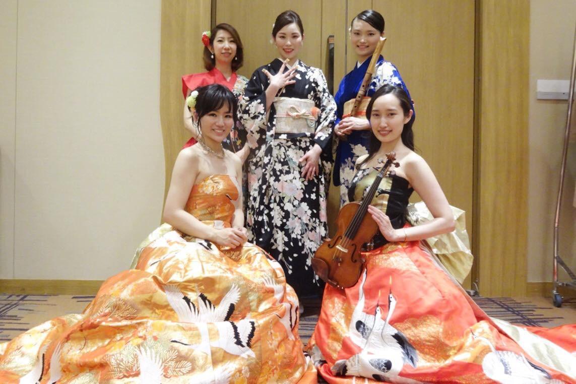 なでしこオーケストラは和楽器、西洋楽器の音色が楽しめます