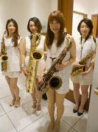 美人演奏家のサックスカルテットは余興演奏で人気があります