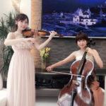 ヴァイオリンとチェロは高級感ある会場で人気があります