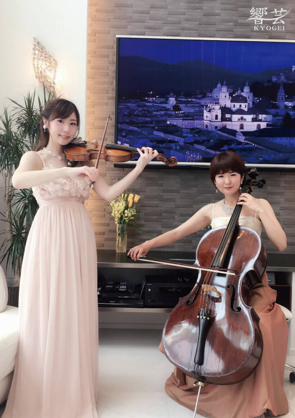 美人演奏家の生演奏で人気があります
