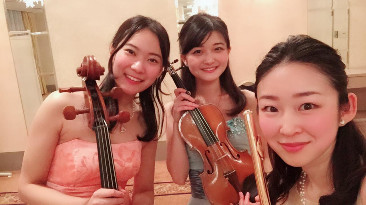 笑顔が可愛い管弦演奏家