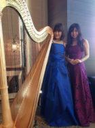 美人ピアノ奏者と美人ハープ奏者