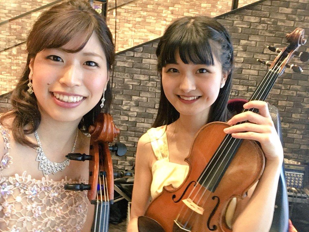 イオンモールにてヴァイオリン、チェロの二重奏でした