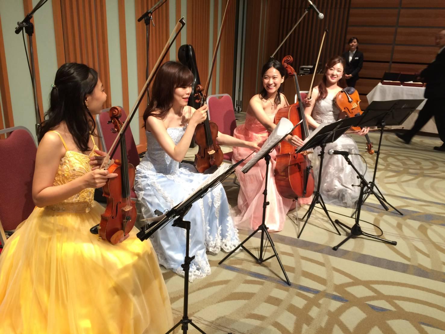 弦楽四重奏のリハーサルもスムーズにできました