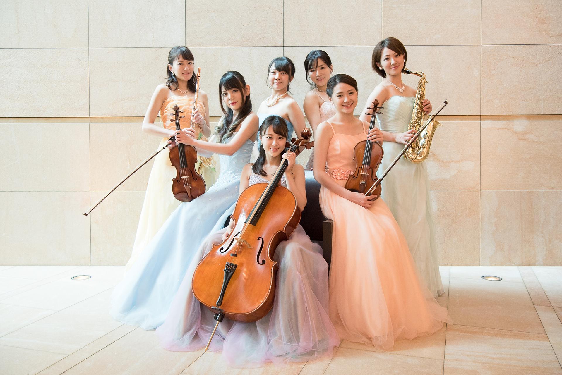 美人演奏家のオーケストラでクラシックの生演奏