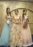 ソプラノ歌手、フルート、ヴァイオリンの三重奏演奏でした