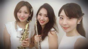 ヴァイオリン、フルート、サックスの3名でご依頼いただきました