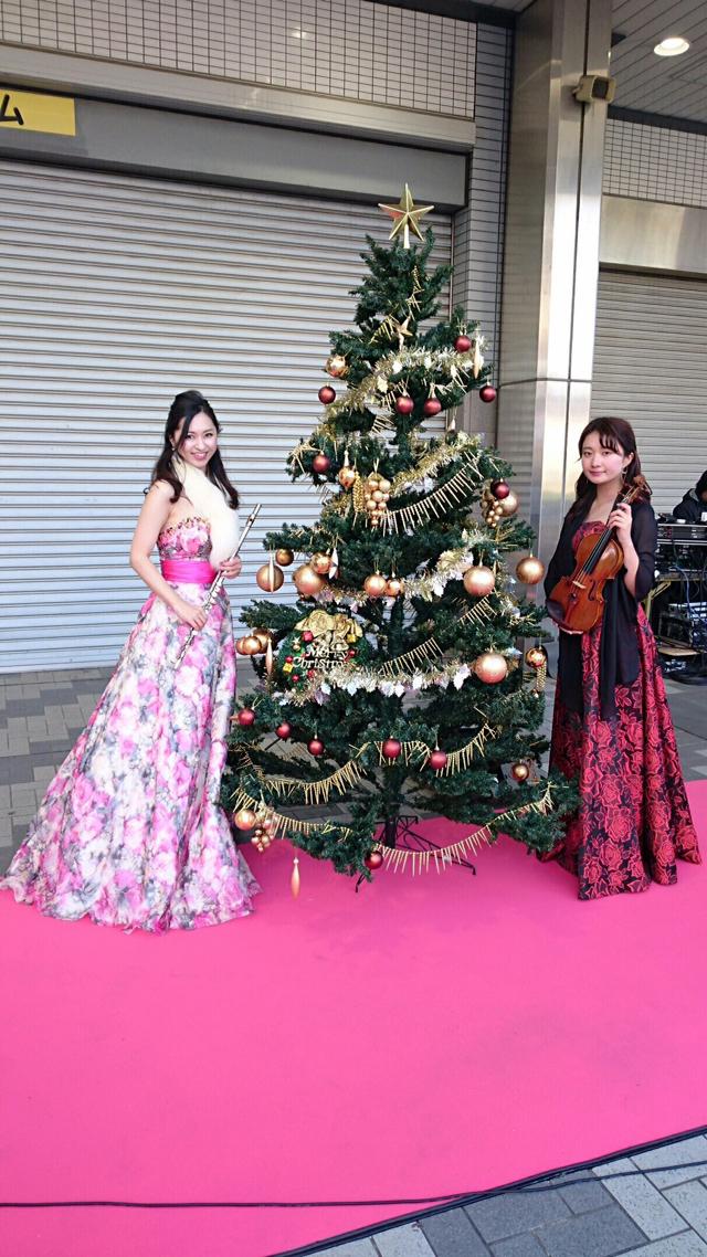 フルート、ヴァイオリンの二重奏ライブでした