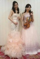 ヴァイオリンとフルートの二重奏編成。美人演奏家のご指名、ご依頼です