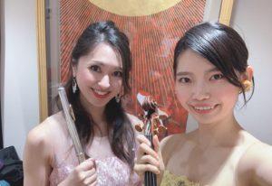 美人フルート奏者、美人ヴァイオリン奏者