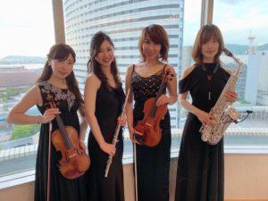 神戸にてミュージスターでBGM生演奏でした