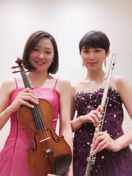 フルートとヴァイオリンのクラシック演奏でした