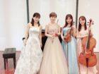 フルート、ヴァイオリン、チェロ、ピアノでミニコンサートでした