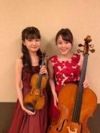 ヴァイオリンとチェロの二重奏生演奏でした