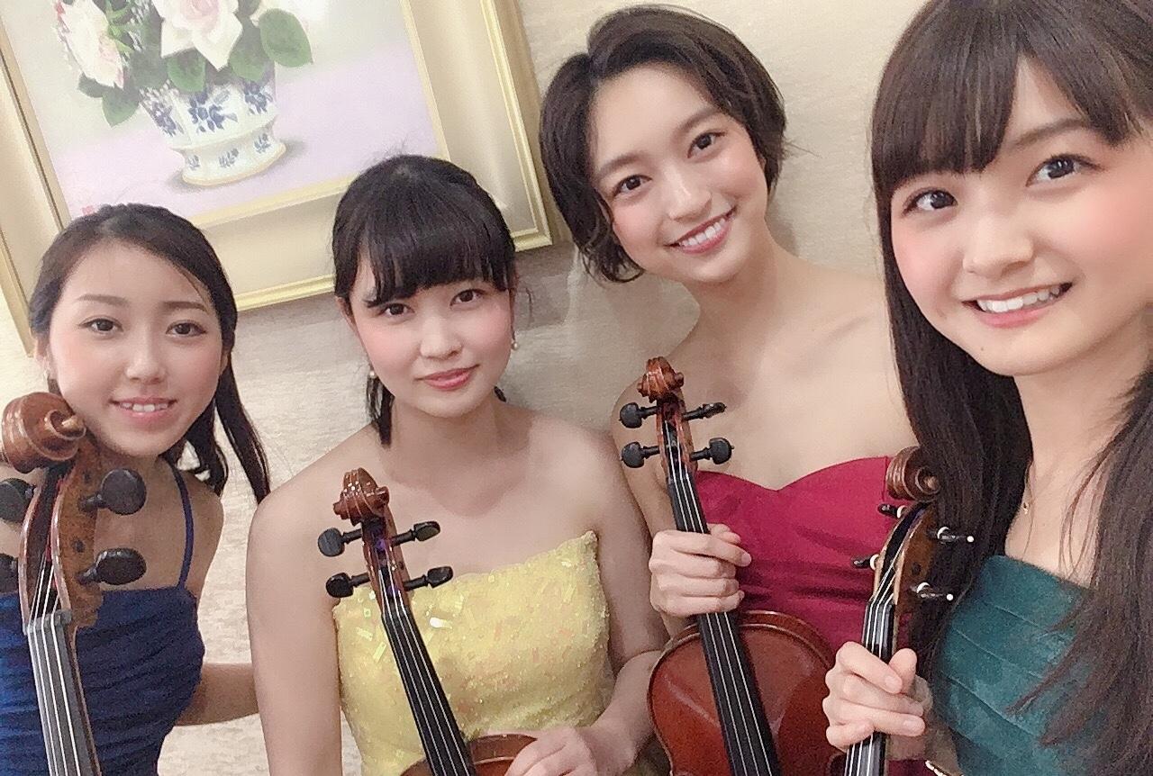 弦楽四重奏は式典演奏で人気があります