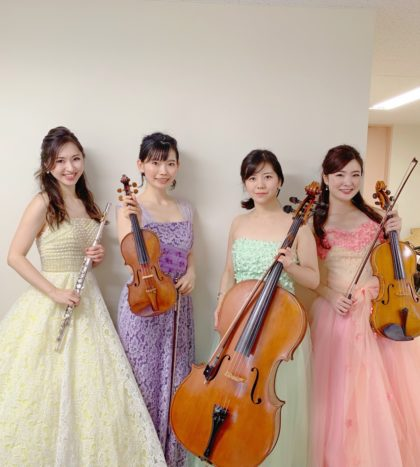 フルートカルテットは、管楽器と弦楽器の音色が楽しめます