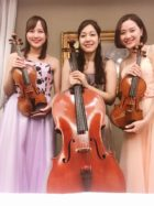 ヴァイオリン2名とチェロのストリングトリオです