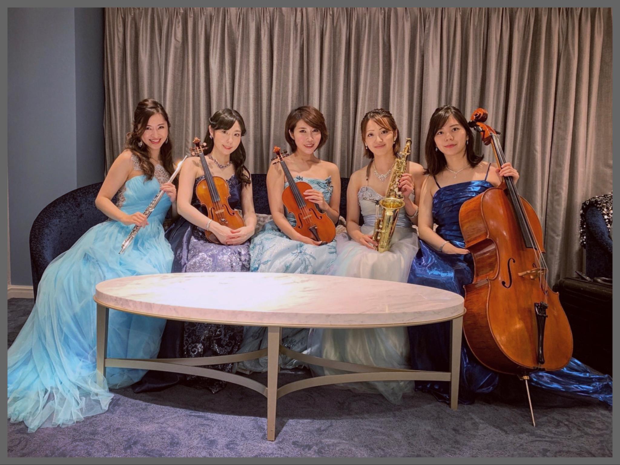 美人演奏家によるクラシック生演奏