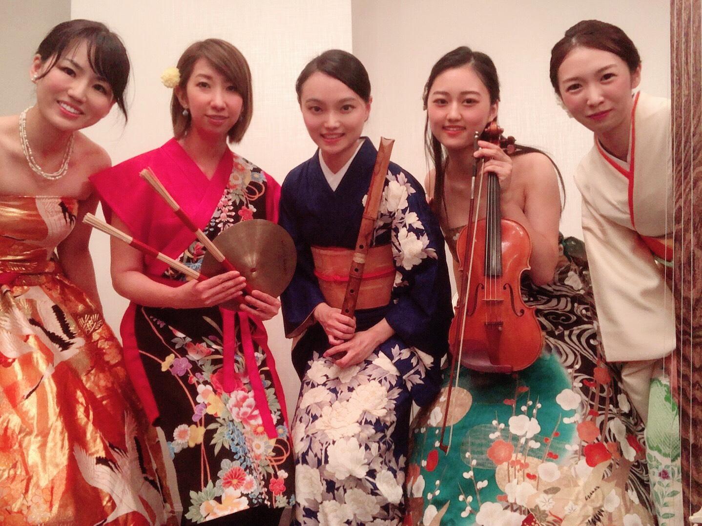 熊本県にてなでしこオーケストラで演奏でした
