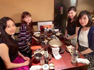 新潟にて演奏後にお食事をご馳走になりました