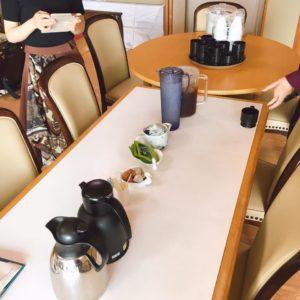 広島にて介護施設で演奏した際の控え室です