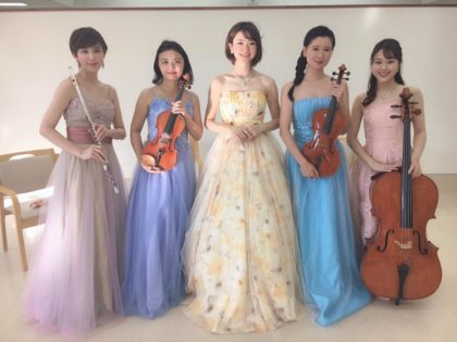 オペラ、弦楽器、管楽器の5名編成でのご依頼でした