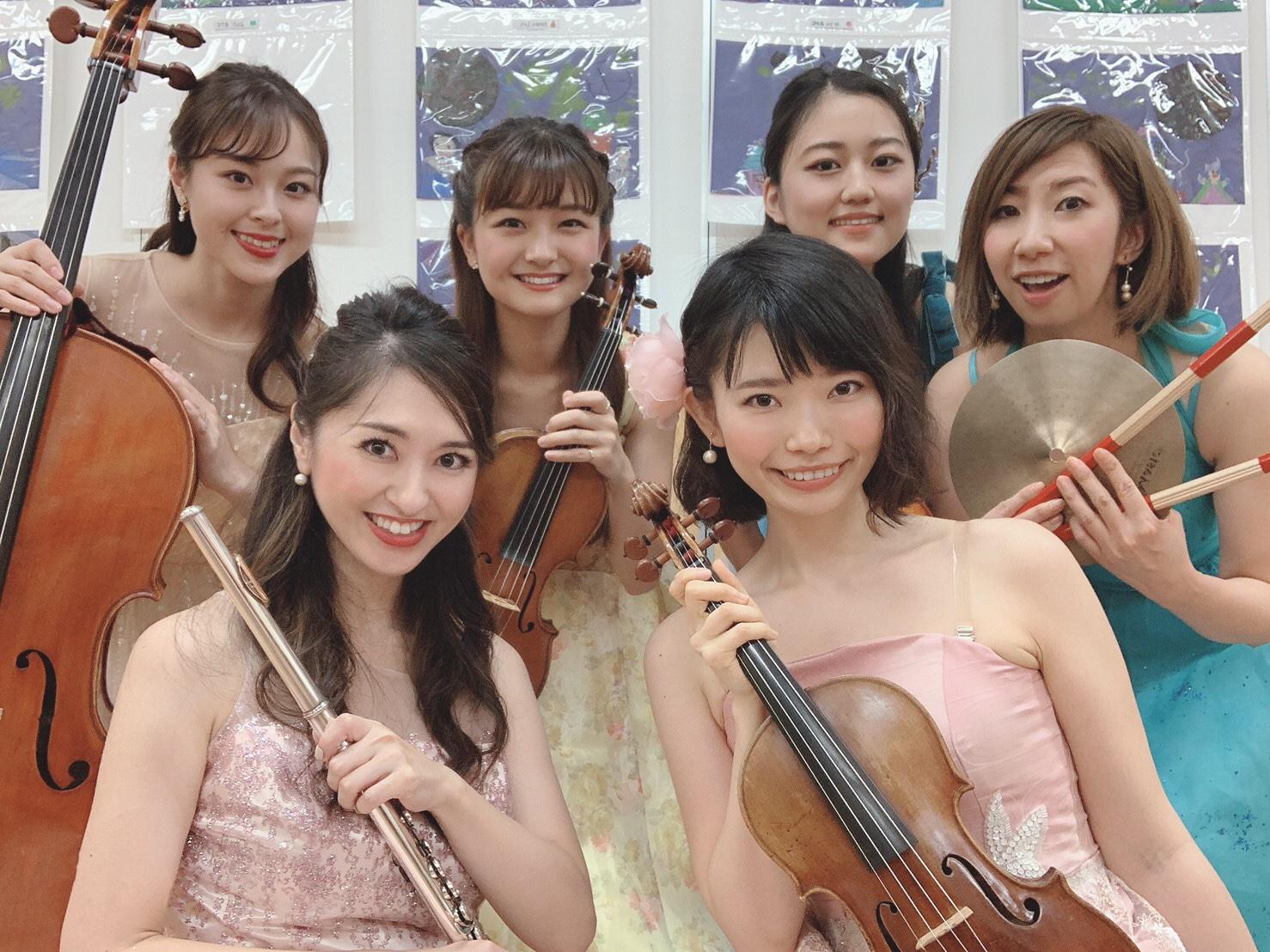 楽器の生演奏は子供に人気があります