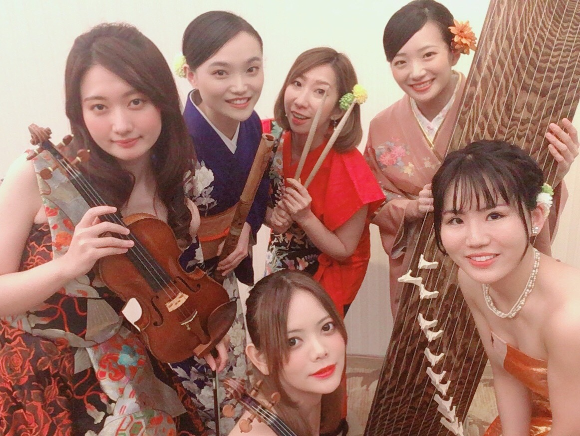 和楽器奏者の生演奏の派遣で人気があります