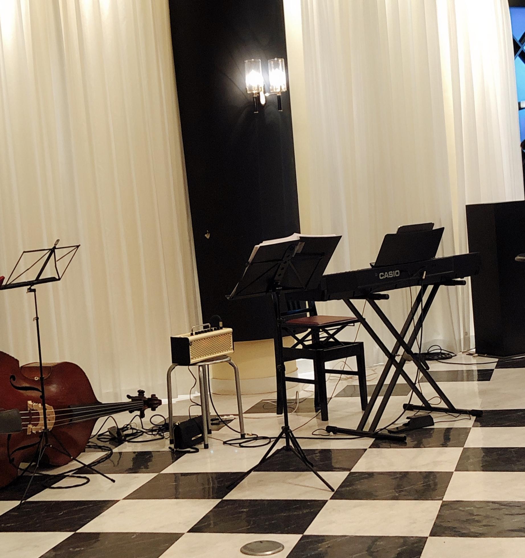 忘年会にてジャズ生演奏でした