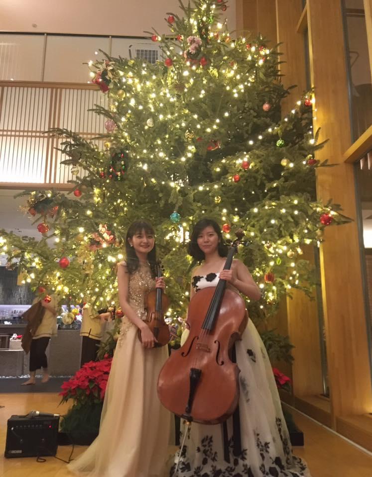 ヴァイオリンとチェロの2名編成での御依頼でした