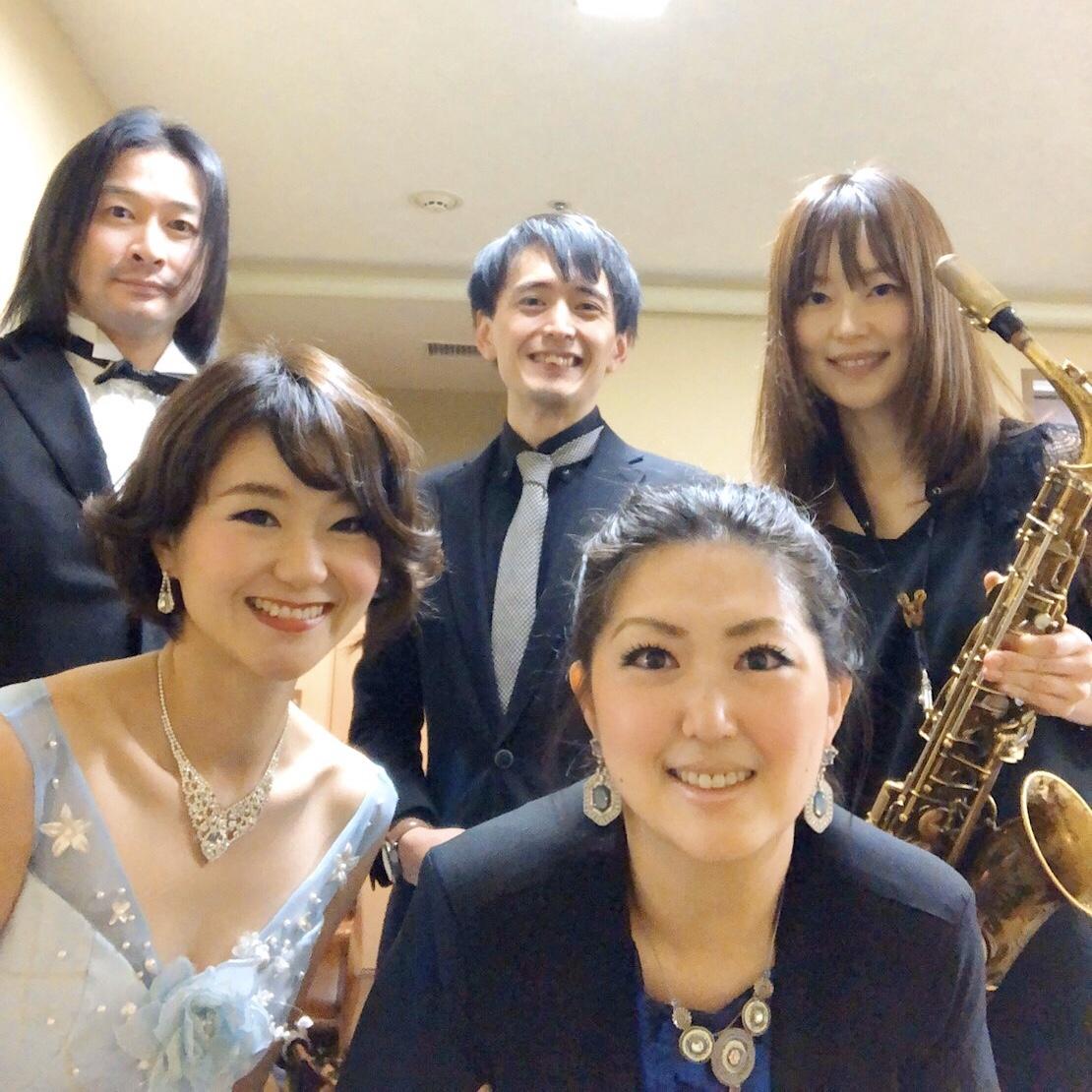 オペラ歌手とジャズトリオでご披露宴演奏でした