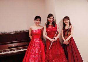 フルート、ヴァイオリン、ピアノでクラシック生演奏