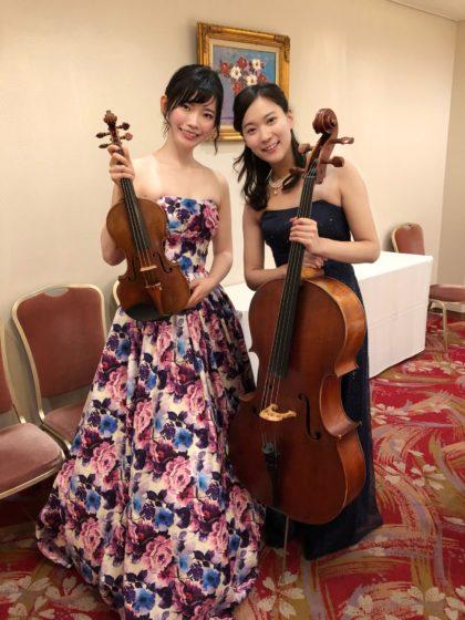 ヴァイオリンとチェロのクラシック二重奏でした