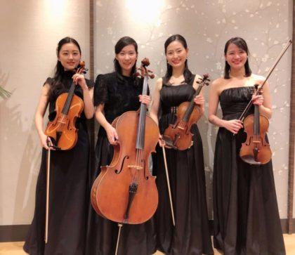 高級感のある演奏で人気の弦楽四重奏です