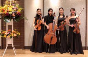 ヴァイオリン、ヴィオラ、チェロの4名編成で御依頼頂きました。