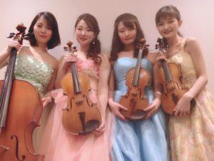 弦楽四重奏は美人演奏家が多いです