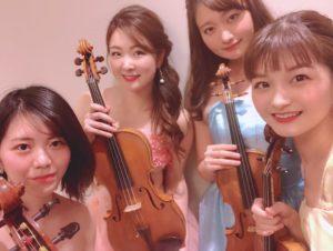 ヴァイオリン2名、ヴィオラ、チェロの4名編成で御依頼頂きました